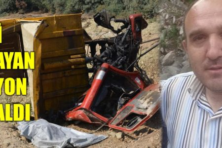 Freni patlayan kamyon bir cana mal oldu