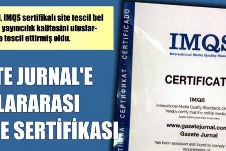Jurnal Uluslararası Kalite Belgesi aldı