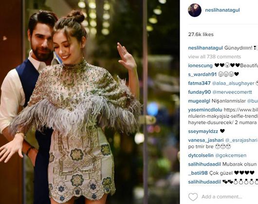 Neslihan Atagül Kadir Doğulu Çifti Nişanlandı. Fotoğrafları İnstagram'da Paylaştı.