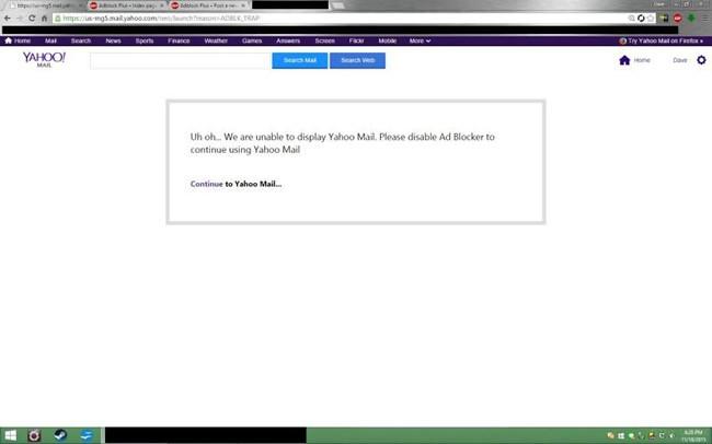 Yahoo Mail reklam engelleyici kullanan hesapları tek tek kapatıyor!