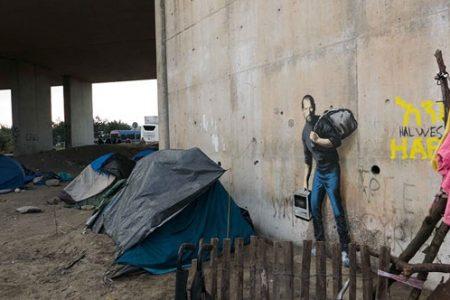 Banksy Jobs'u mülteci olarak çizdi