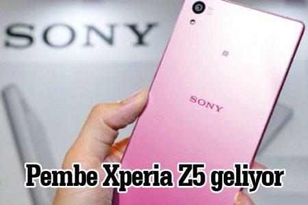 Kadınlara özel pembe Xperia Z5 ilgi yoğun oldu