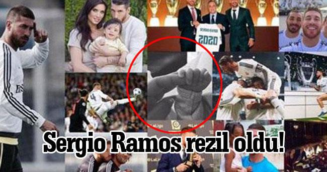 Real Madrid'in yıldızı Sergio Ramos rezil oldu!