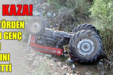 Traktörden düşen genç kadın öldü