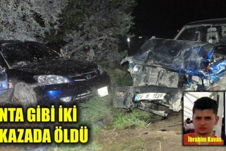 İznik'te feci kaza 2 ölü 3 yaralı