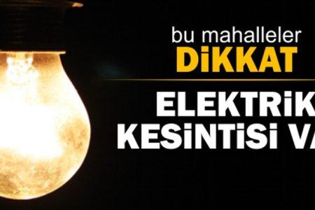 2 gün elektrik kesintisi olacak