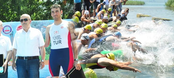 3. Türkiye Triatlon yarışmaları İznik'te nefesleri kesti