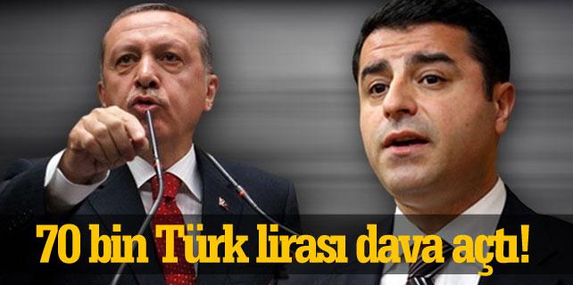 Erdoğan 'ağır hakaret etti' diyerek Selahattin Demirtaş'a dava açtı